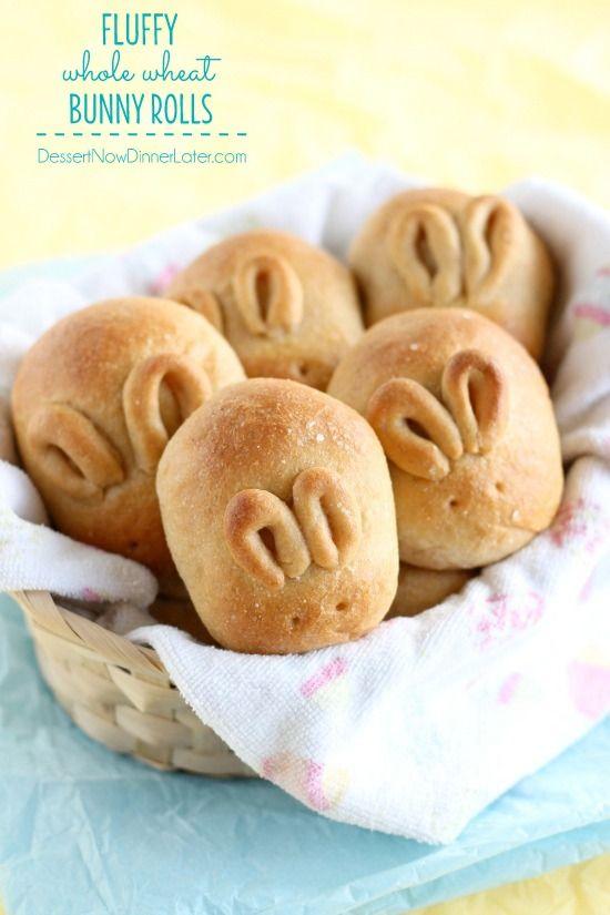 Fluffy Whole Wheat Bunny Rolls on MyRecipeMagic.com #Easter #bunny #rolls