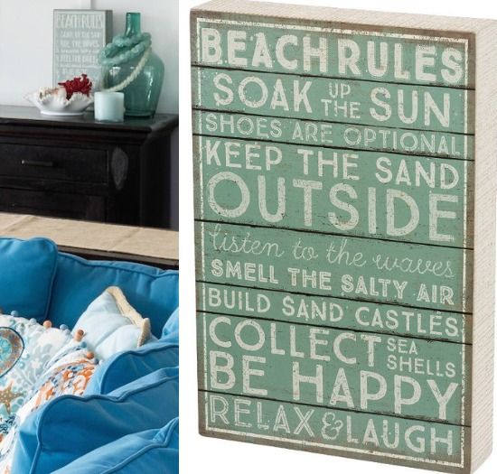 Beach Rules Sign... http://www.beachblissdesigns.com/2017/07/beach-rules-wood-block-sign.html This wood beach rule sign will look great standing or hanging! Rules to live by!