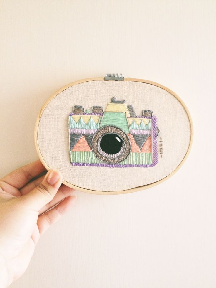 Pentax camera embroidery