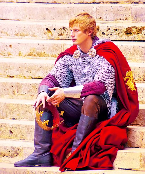 bradley james as king arthur.