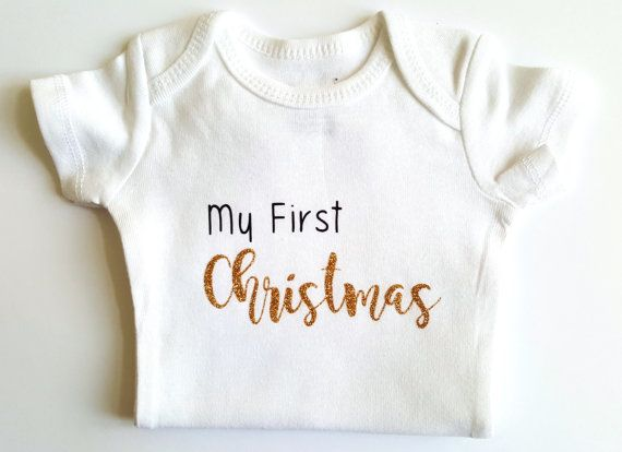 Check out this item in my Etsy shop https://www.etsy.com/ca/listing/475768462/babys-first-christmas-bodysuit-christmas
