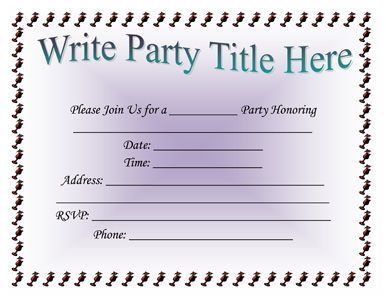 Party Invitation Templates To Inspire You In Making Awesome Party Invitation  Wording 665  Free Party Invitations Templates Online