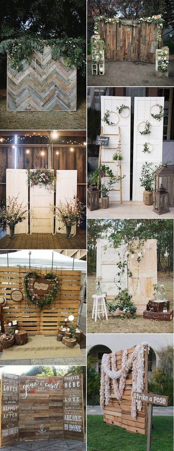 kraft Set of 5 Photobooth Retro style wedding accessories