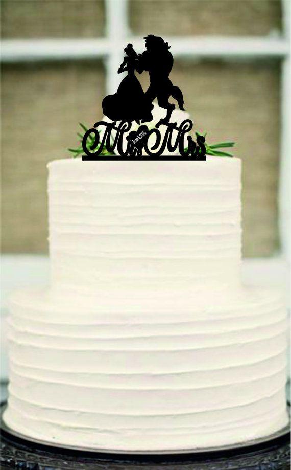 silhouette wedding cake topper Unique wedding by Customorderhouse