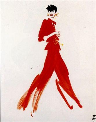Chanel illustrated by Rene Gruau