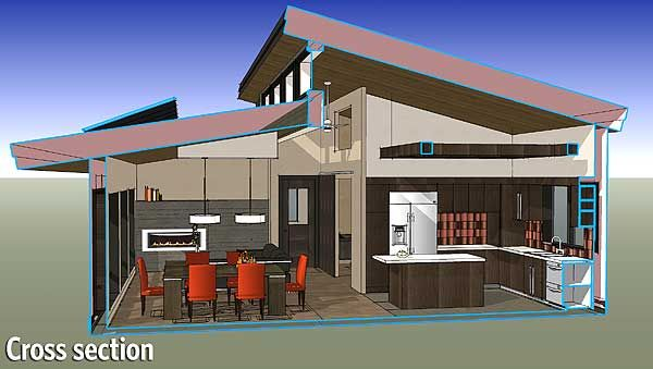 Plan 2838j compact design with street appeal mountain for Net zero energy home plans
