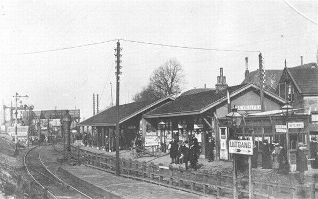 Deventer. Het station van Deventer omstreeks 1918