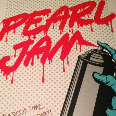 Pearl Jam - 2013 D*Face Dface poster print Seattle, WA 1st edition,