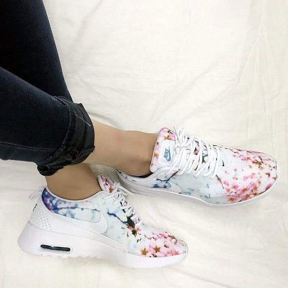 Baskets à imprimé fleurs Nike Air Max Thea   Taaora - Blog Mode ...