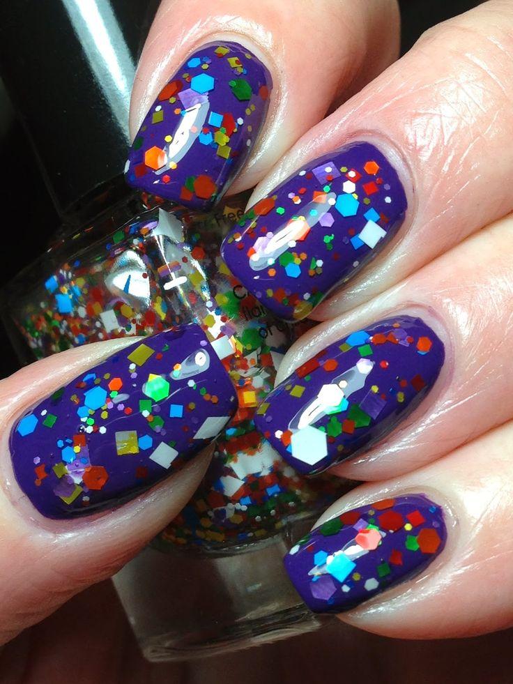 Cirque Colors KALEIDOSCOPE shown over purple