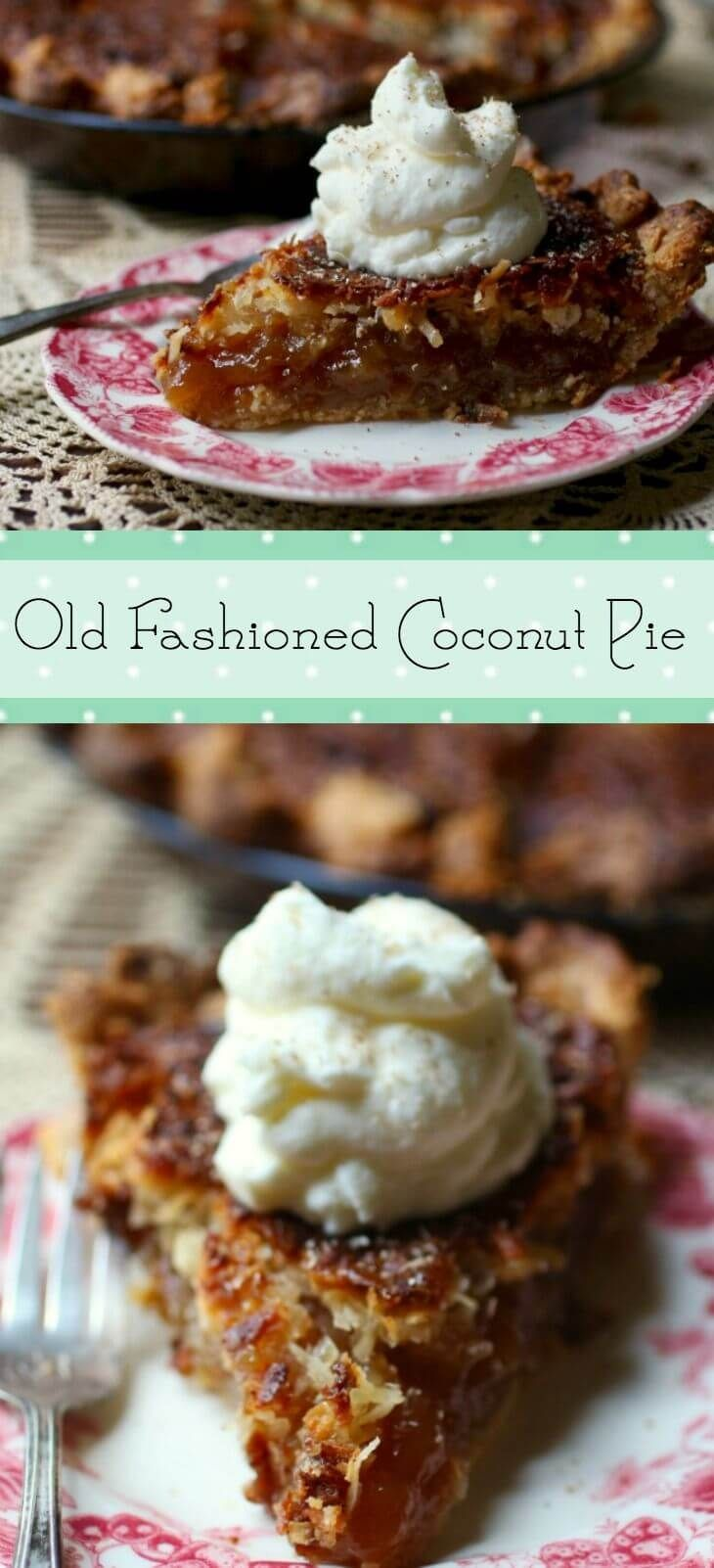 This Southern coconut pie recipe is sweet and gooey - full of old fashioned goodness. I found this recipe in a very old cookbook and had to try it! Super easy and so unusual. From RestlessChipotle.com