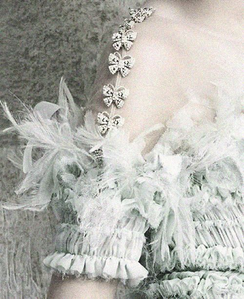 Butterfly details of Chanel Haute Couture S/S 2014 in Vogue Germany