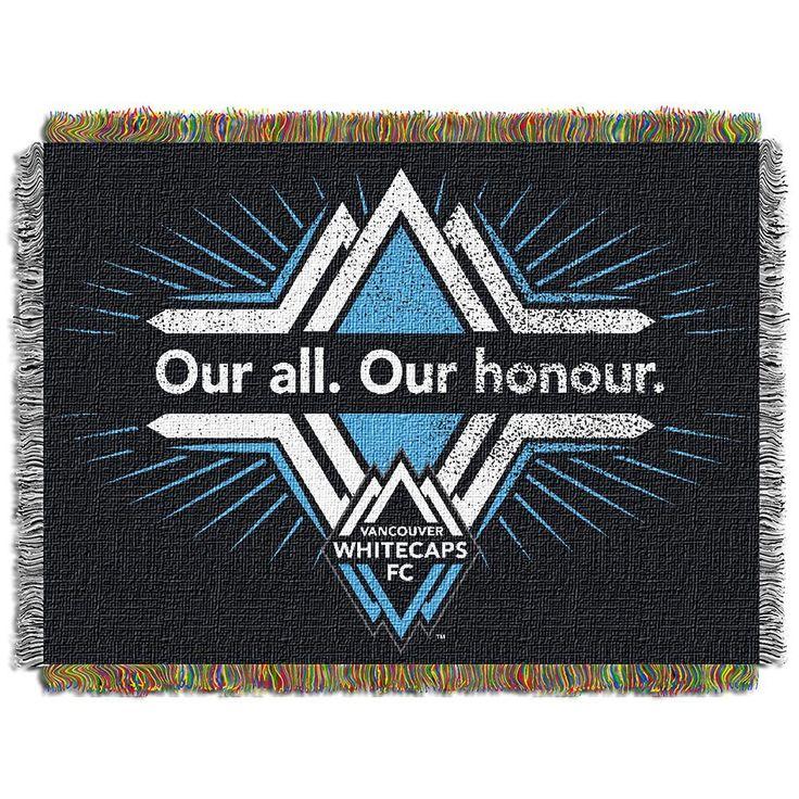 Vancouver WhiteCaps FC MLS Woven Tapestry Throw Blanket (48x60)