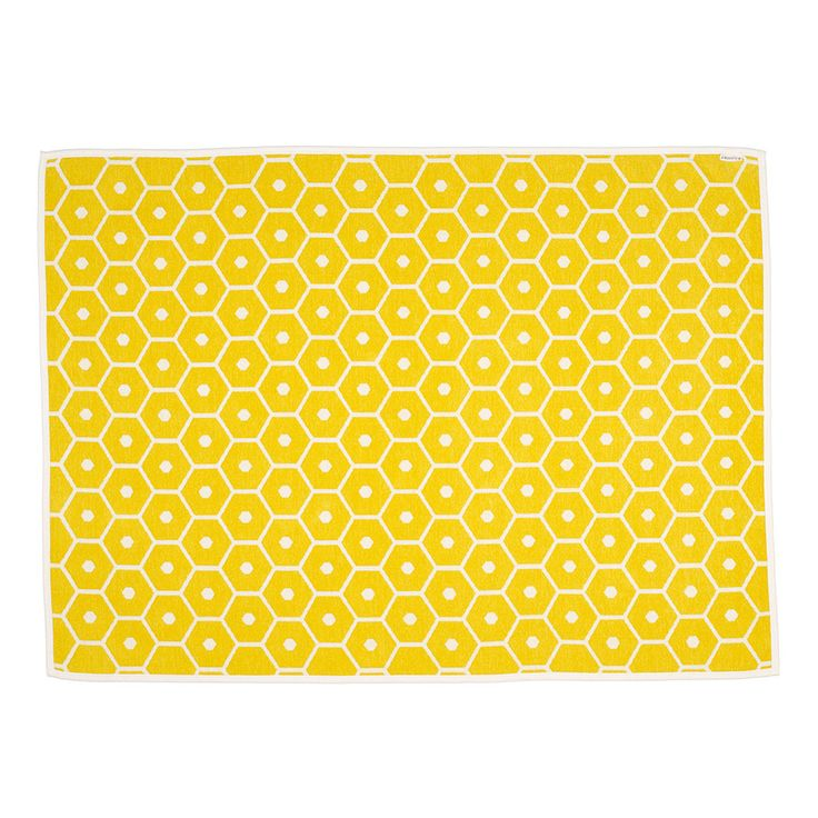 Honey Plaid 140x180 cm, Lemon/Vanilla - Lina Rickardsson - Pappelina - RoyalDesign.com