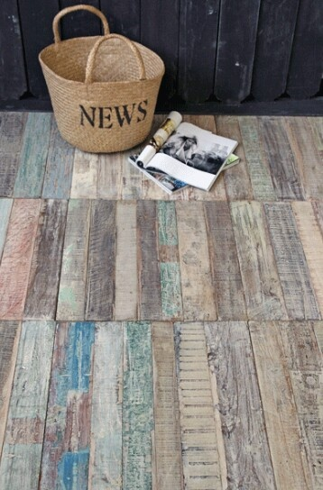Recycle Teak Floor Tile