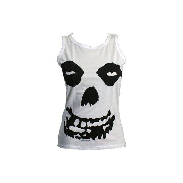 Misfits All Over Skull Ladies Vest Top (300 ARS) ❤ liked on Polyvore featuring tops, shirts, tank tops, misfits, skull top, holiday shirts, skull tank top, evening tops and skull shirt