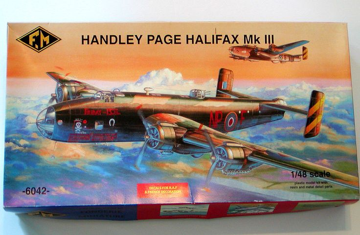 NIB Fonderie Miniature 1/48 HANDLEY PAGE HALIFAX Mk III AIRPLANE KIT RAF France #FonderieMiniature