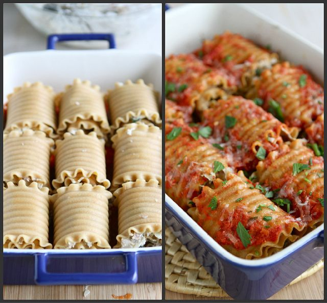 Leftover Turkey (or Chicken) Lasagna Roll Recipe with Sun-Dried Tomatoes & Spinach {Low Fat} by CookinCanuck, via Flickr