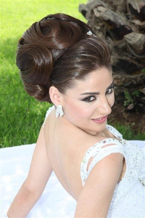 Arabic/Lebanese Make-up and Hair in South Florida area :  wedding arabic ceremony hair lebanese makeup reception updo 251377 10150280337841348 4620336 N
