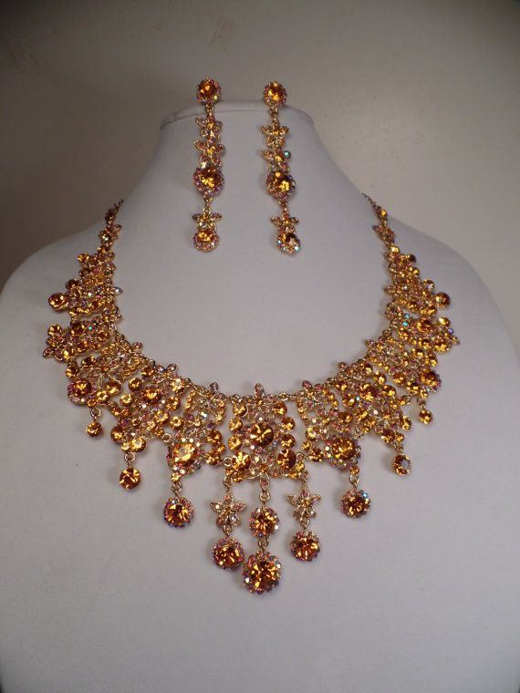 Over-the-Top Necklace and Earrings Set-WOW in 2019 | Prom