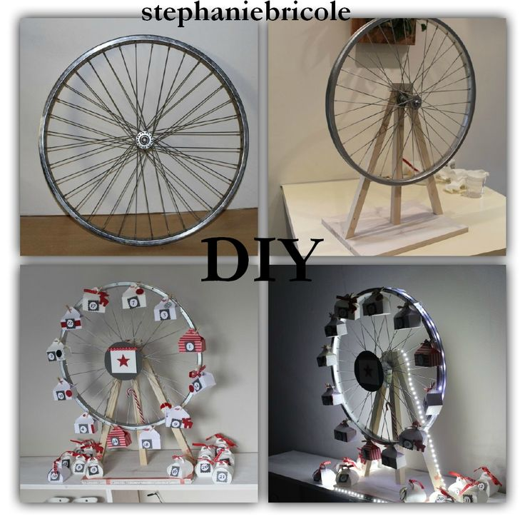 diy faire soi m me un calendrier de l 39 avent grande roue de v lo bricolage. Black Bedroom Furniture Sets. Home Design Ideas