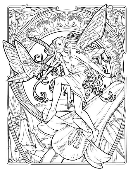 faerie n 07 copihue bwjpg 455576 elves fantasyfantasy fairiesadult coloringcoloring pagescolouringcolor sheetsnymphsspritesmythical creatures