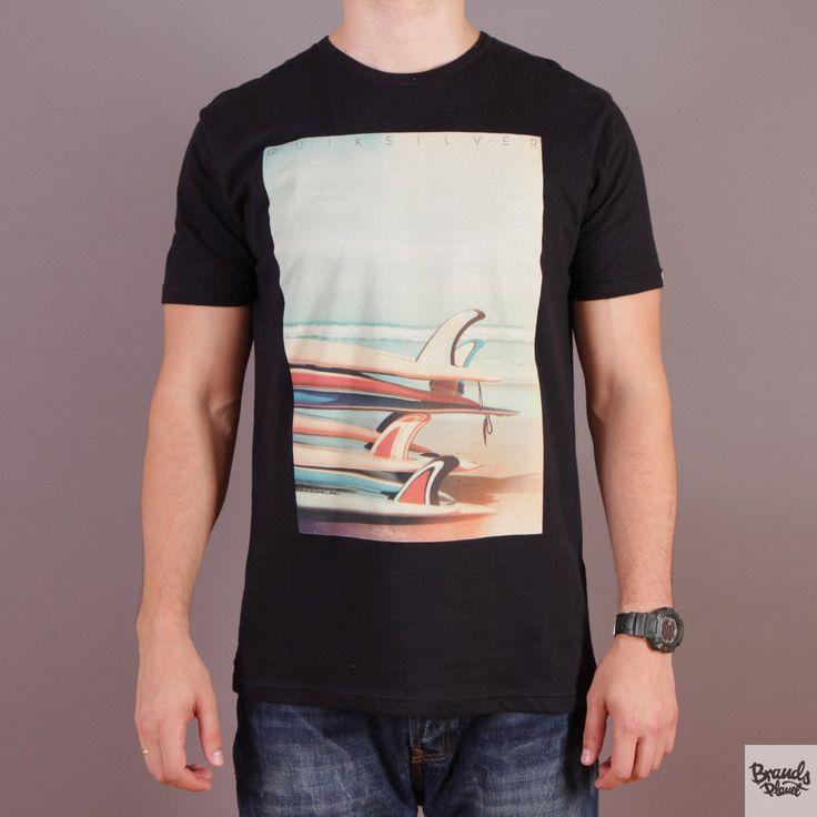 Biała męska koszulka z nadrukiem Quiksilver SS QS Tee F7 - kolekcja Fall/Winter 2014 / www.brandsplanet.pl /