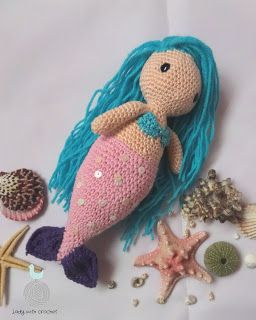 Lady with crochet: Mała syrenka Amigurumi Little Mermaid