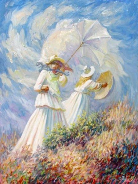 Girls In White Optical Illusion Painting By Oleg Shuplyak