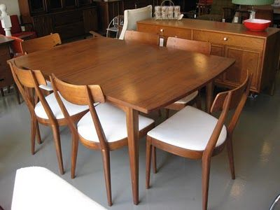 Mid century dining table and chairs
