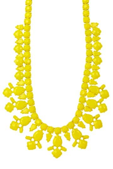 Luxe Deco Yellow Statement Necklace by Pop Of Color: Bold Jewelry Shop on @HauteLook