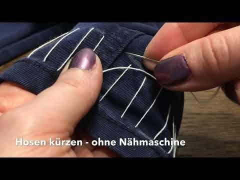 Hosen kürzen ohne Nähmaschine – kinderleicht mit Originalsaum – YouTube