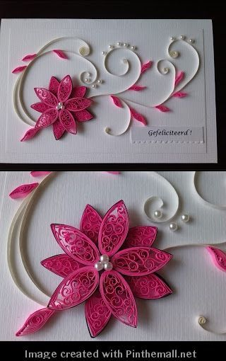 pink quilling card