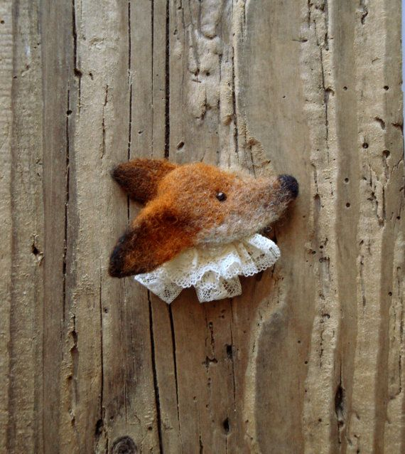 Fox Brooch Needle felted brooch Little by CorinaComarnitchiArt