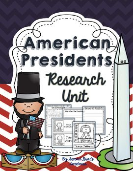 A HUGE President Research Unit! It includes research question prompts, writing paper and cover page for presentation.