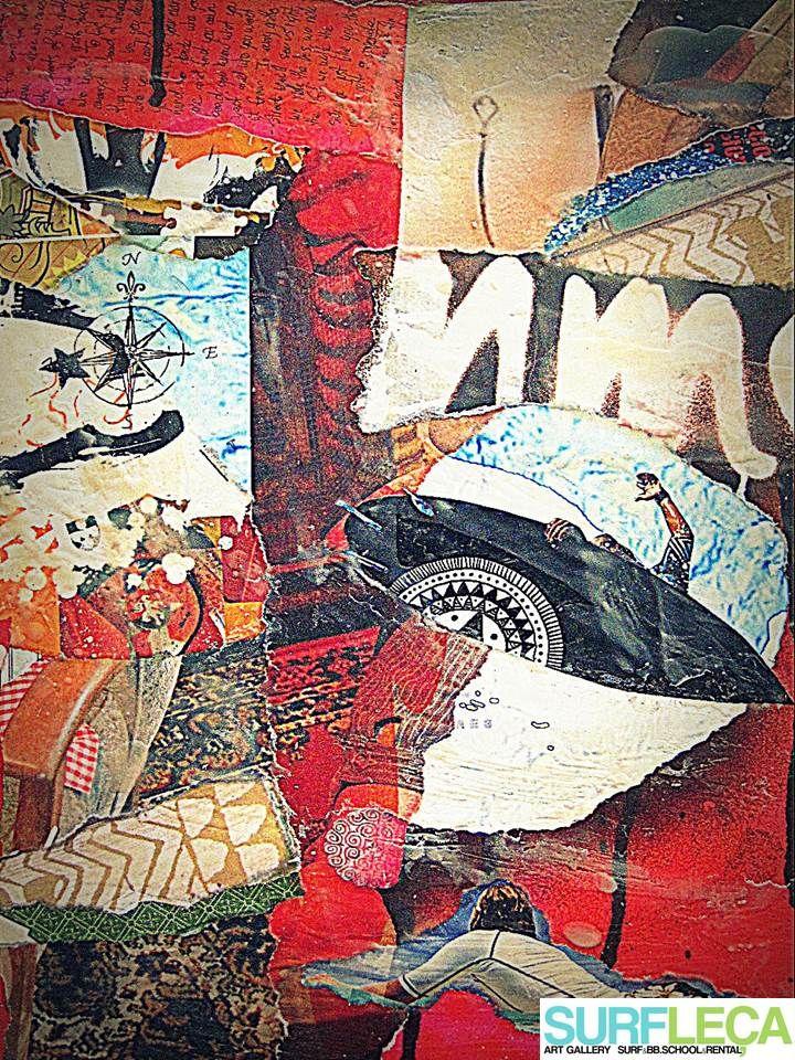 Best Surf Art Images On Pinterest Surf Art Surfing And - Artist paints incredible seaside murals balanced on surfboard