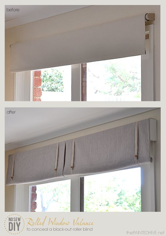 """Check out this """"No Sew DIY"""" from DIY Showoff.com - The Painted Hive No Sew Roller Valance"""