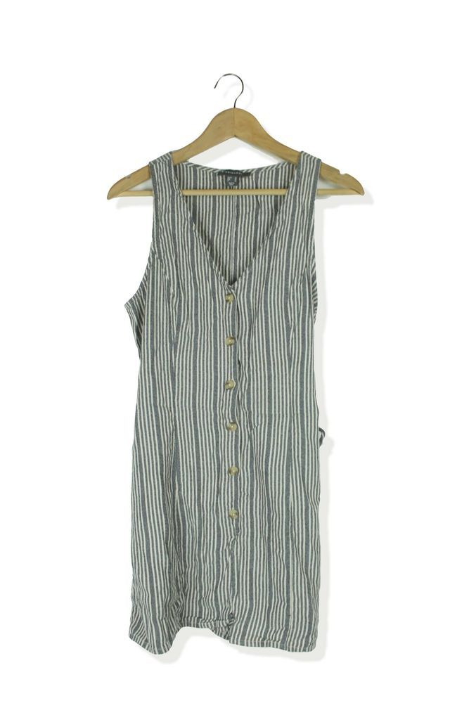 df0ae006a56 Primark grey   white striped summer playsuit size 16  fashion  clothing   shoes