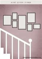 staircase photo wall arrangement