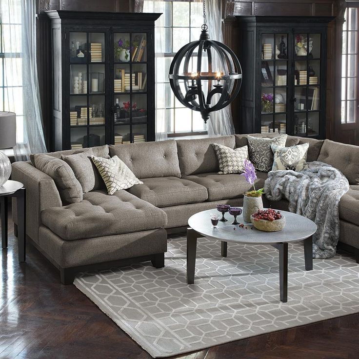 The Garner Sectional Embraces Classics Maybe Add Book Shelves To Sides Of Living Room Windows