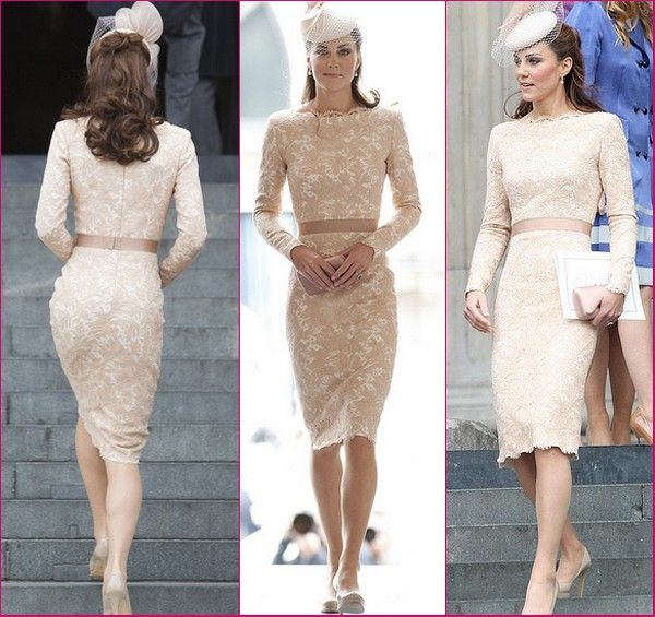 Kate Middleton in Lace Alexander McQueen Dress