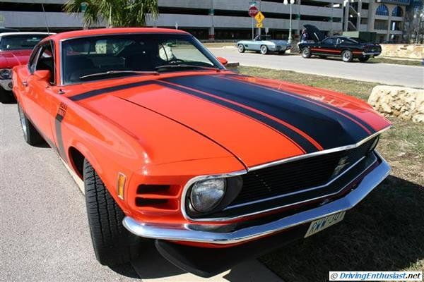 1970 Ford Mustang Boss 302. As seen at the March 2013 Cars and Coffee show in Austin TX USA.