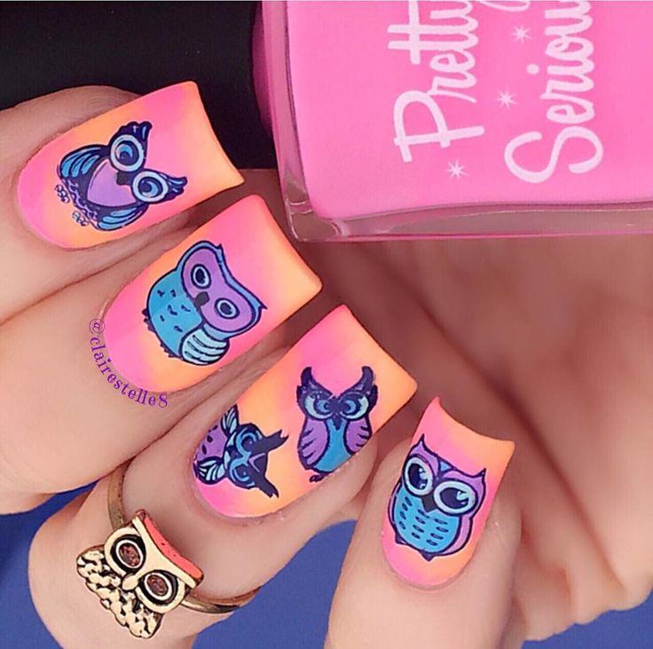103 best ♡Owl Nails♡ images on Pinterest   Owl nail art, Owl nails ...