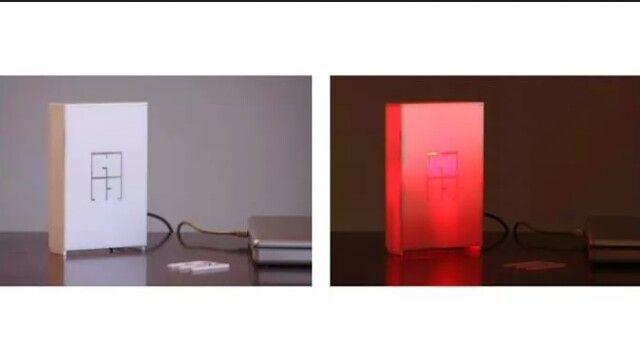 #Lampada usb da tavolo - #Plexiglass #Bianco - cm 10×15×3. #Design e Realizzazione #Architetto  Graziano Fronteddu - #FabLab Nuoro