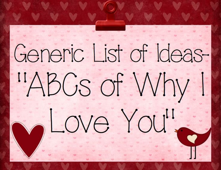 ABCs of why I love you | Alphabet Obsessed