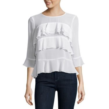 FREE SHIPPING AVAILABLE! Buy Belle + Sky Long Sleeve Tiered Top at JCPenney.com today and enjoy great savings.