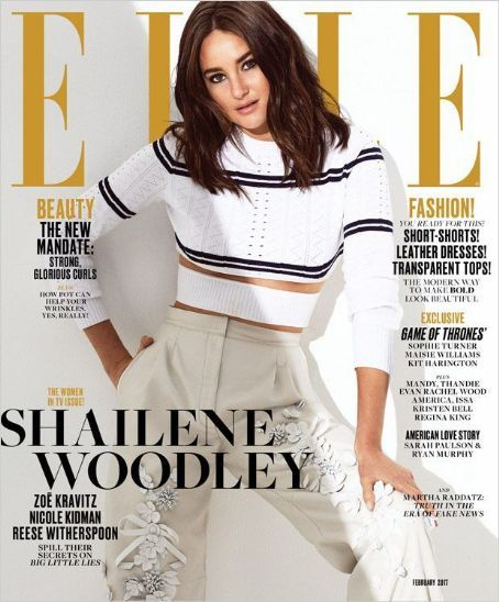 Shailene Woodley - Elle Magazine Cover [United States] (February 2017)