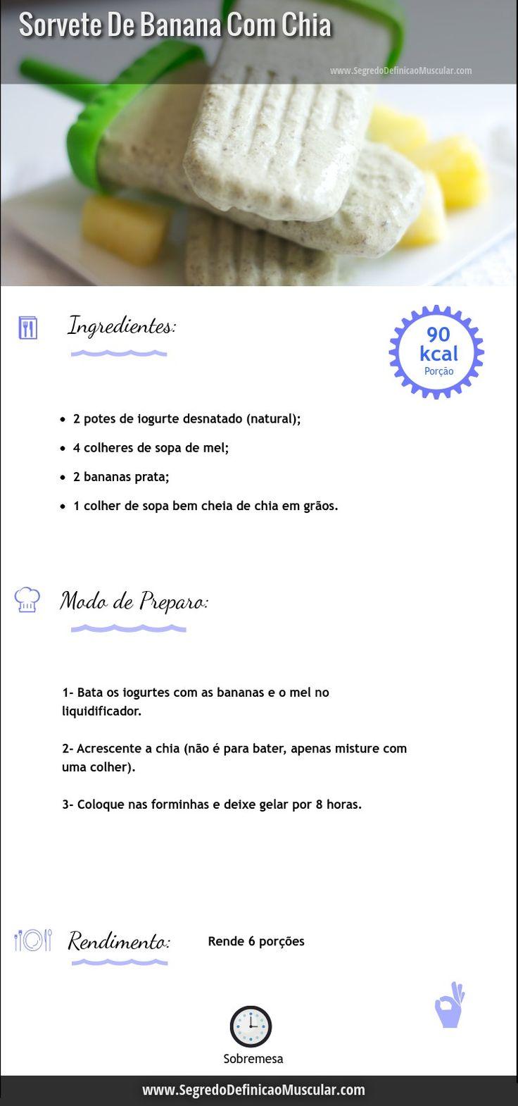 Sorvete De Banana Fit com chia   ➡ https://www.segredodefinicaomuscular.com/sorvete-de-banana-com-chia/  #SegredoDefiniçãoMuscular #receitasfit   #receita #dieta #fit