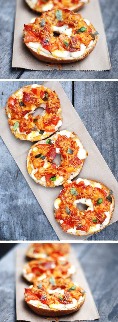 Mamma Mia! Let your kids take charge in our fully-fitted kitchens and have them customize their bagels with mouthwatering toppings with this homemade pizza bagel recipe.