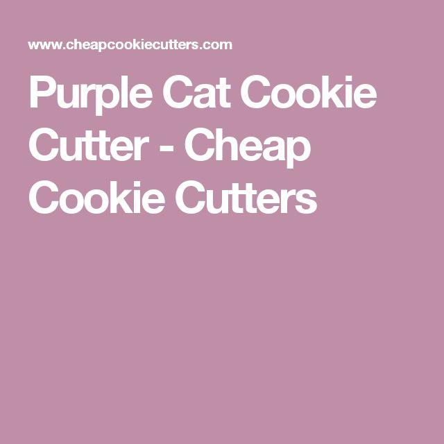 Purple Cat Cookie Cutter - Cheap Cookie Cutters
